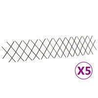vidaXL Clôtures en treillis de saule 5 pcs 180x30 cm