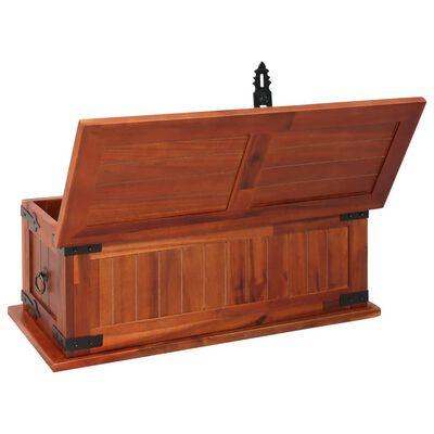 vidaXL Coffre de rangement 60x25x22 cm Bois d'acacia solide