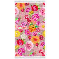 Happiness Serviette de plage WOODSTOCK 100x180 cm Multicolore
