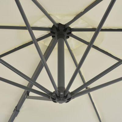 vidaXL Parasol en porte-à-faux avec poteau en aluminium 300 cm Sable