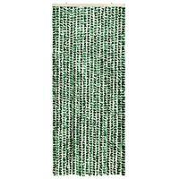 vidaXL Moustiquaire Vert et blanc 56x185 cm Chenille