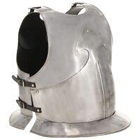 vidaXL Cuirasse d'armure corporelle chevalier médiéval Argenté Acier