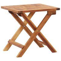 vidaXL Table pliable de jardin 40x40x40 cm Bois d'acacia massif
