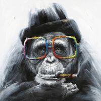 Peinture Sur Toile Singe À Lunettes - Monkey