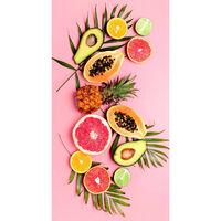 Good Morning Serviette de plage PINK FRUITS 75x150 cm Rose