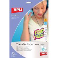 Papier transfert tissu imprimable A4 - Blanc - 10 pièces - APLI AGIPA