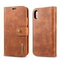 Coque iPhone XR avec porte-cartes en cuir PU - Marron