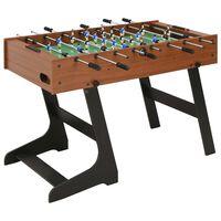vidaXL Table de football pliante 121 x 61 x 80 cm Marron