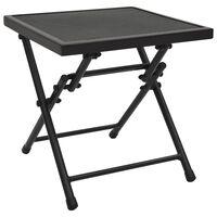 vidaXL Table pliable en maille 38x38x38 cm Acier Anthracite