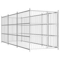 vidaXL Chenil d'extérieur pour chiens 450 x 150 x 185 cm