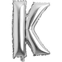 Ballon 53 cm, lettre K - argent