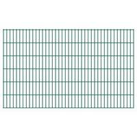 vidaXL Panneaux de clôture de jardin 2D 2,008x1,23 m 10 m total Vert