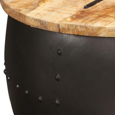 vidaXL Table basse ronde 53x43 cm Bois de manguier massif