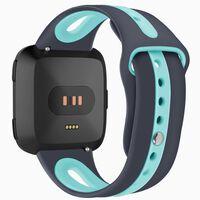 Bracelet Fitbit Versa silicone - gris / turquoise