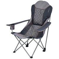 Eurotrail Chaise de camping Elba Argenté et gris