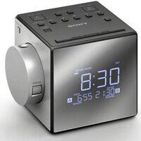 Sony Icfc 1 Pj  Réveil Radio - Double - Numérique - Gris - Sauvegarde