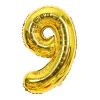 Ballon 53 cm, numéro 9 - or