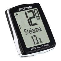 Sigma Ordinateur de vélo BC 14.16 STS Noir