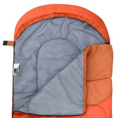 vidaXL Sacs de couchage légers 2 pcs Orange 15°C 850 g