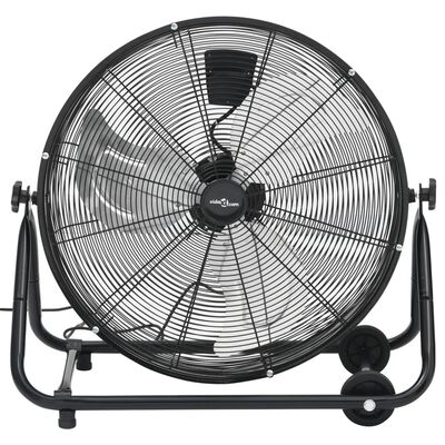 vidaXL Ventilateur à tambour industriel 60 cm 180 W Noir