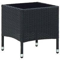 vidaXL Table de jardin Noir 40x40x45 cm Résine tressée