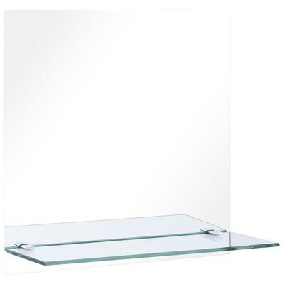 vidaXL Miroir mural avec étagère 30x30 cm Verre trempé