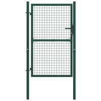 vidaXL Portail de clôture Acier 100x200 cm Vert