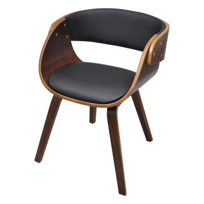 vidaXL Chaise de salle à manger Bois courbé et similicuir