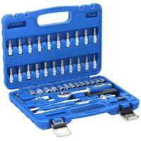 Outil Kinzo - clés à douille - bit - rochet - 46 pièces - CRV