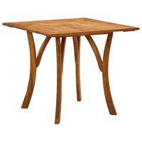 vidaXL Table de jardin 85x85x75 cm Bois d'acacia massif