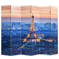 vidaXL Cloison de séparation pliable 228x170 cm Paris la nuit