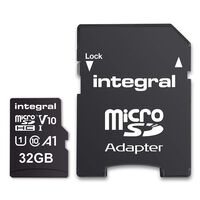 Carte micro SDHC INTEGRAL INMSDH 32 G-100 V 10