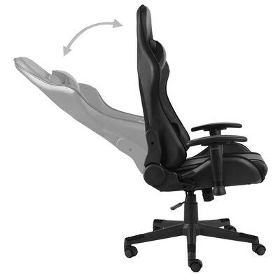 vidaXL Chaise de jeu pivotante Noir PVC