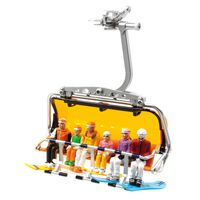 Jaegerndorfer - 6 Figurines assises avec snowboards - 1:32