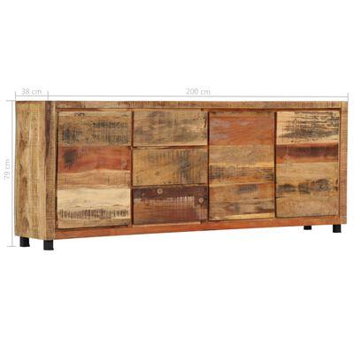 vidaXL Armoire latérale 200 x 38 x 79 cm Bois de récupération massif