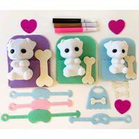 Fuzzikins Kit de bricolage et de jeu Chiens