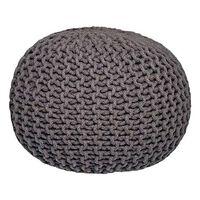 LABEL51 Pouf tricoté Coton M Gris foncé