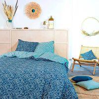 Today Parure De Couette 220x240 Cm - 100% Coton - Vert Boheme - Kerala