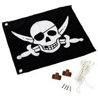 AXI Drapeau de pirate Noir et blanc 55 x 45 cm