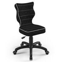 Entelo Chaise de bureau ergonomique enfants Petit VS01 Taille 4 Noir