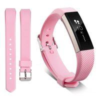 Bracelet Fitbit Alta / HR en silicone - modèle sport (S) - Rose