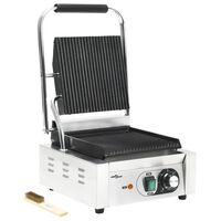vidaXL Grill pour panini rainuré Acier inoxydable 1800 W 32x41x19 cm
