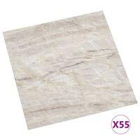 vidaXL Planches de plancher autoadhésives 55 pcs PVC 5,11 m² Beige