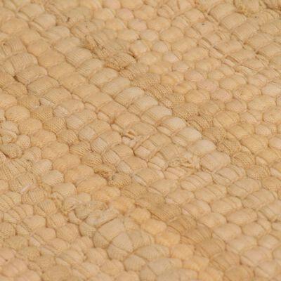 vidaXL Tapis Chindi Coton tissé à la main 120 x 170 cm Beige