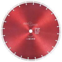 vidaXL Disque de coupe diamanté Acier 350 mm