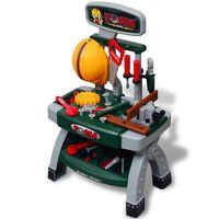 Établi-jouet avec outils pour enfants Vert + Gris