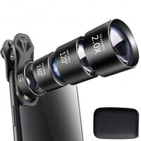 Objectif de téléphone portable 4-i-1 fisheye + grand angle + téléobjec