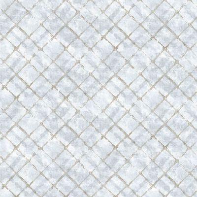 Homestyle Papier peint Tiles Bleu et taupe