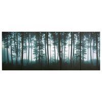 vidaXL Ensemble de tableau sur toile Arbres Multicolore 150x60 cm