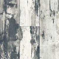 DUTCH WALLCOVERINGS Papier peint Bois Gris foncé et beige